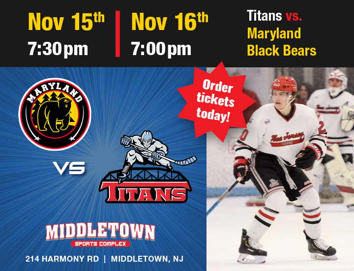 Titans vs. Maryland Black Bears November 15 & 16, 2019
